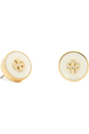 Tory Burch Ohrringe - Kira Enamel Circle Stud Earring 64885 Tory /New Ivory 110