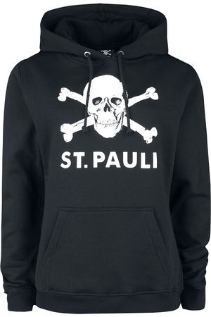 FC St. Pauli Damen Sweatshirts - Totenkopf Kapuzenpullover