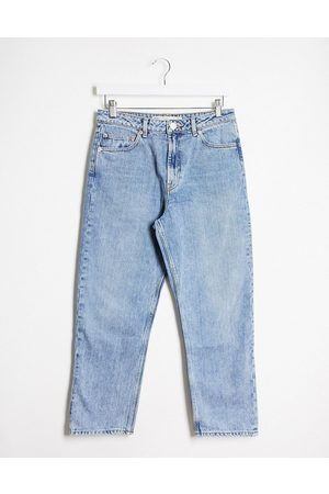 ASOS – Florence Authentic – Jeans aus recyceltem Material mit geradem Bein in heller Vintage-Waschung