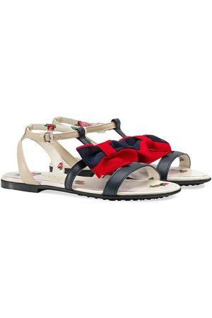 Gucci Kids Sandalen mit Webschleife