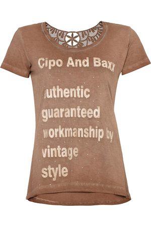 Cipo & Baxx T-Shirt mit modischen Spitzendetails