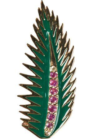 ALISON LOU Damen Ohrringe - Palmenblatt-Ohrring aus 14kt Gold