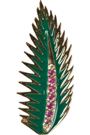 ALISON LOU Palmenblatt-Ohrring aus 14kt Gold