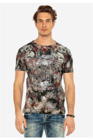 Cipo & Baxx T-Shirt mit lässigem Totenkopf-Print