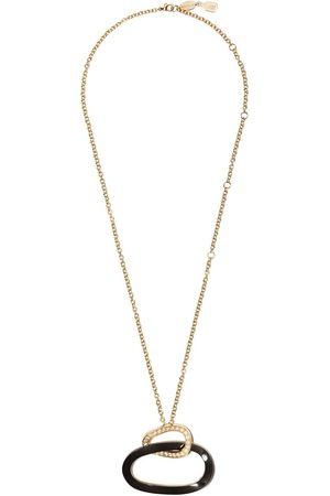 De Grisogono 18kt Rotgoldhalskette mit Diamantenanhänger und Emaille