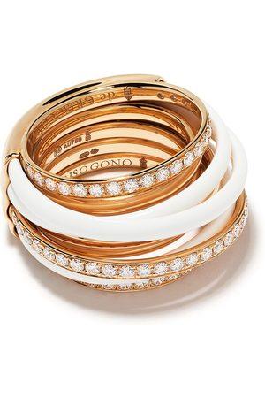 De Grisogono 18kt Rotgoldring mit Diamanten und Emaille