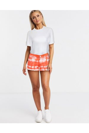 BLANK NYC Damen Shorts - – Jeansshorts in Batik-Optik in