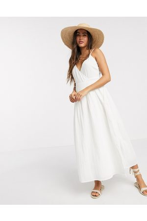 ASOS – Maxi-Wickelkleid in Knitter-Optik