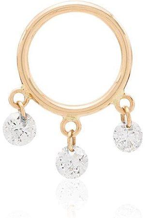 PERSÉE 18kt Gelbgoldcreole mit Diamanten