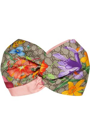 """Gucci Damen Haarschmuck - GG' Stirnband mit """"Flora""""-Print"""