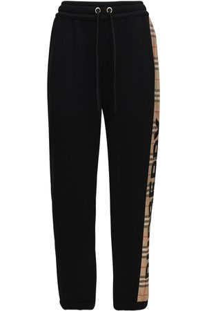 Burberry Jersey Sweatpants W/ Checked Side Bands