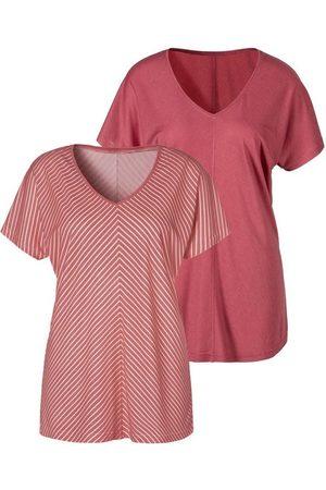 LASCANA T-Shirt mit besonderem Streifendesign
