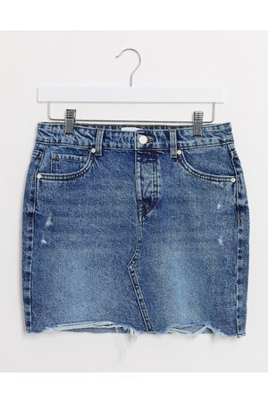 Only Damen Miniröcke - – Vintage-Minirock aus Denim in