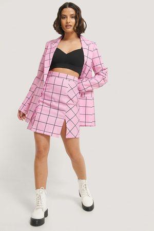 NA-KD Kurzer Geschlitzter Rock - Pink