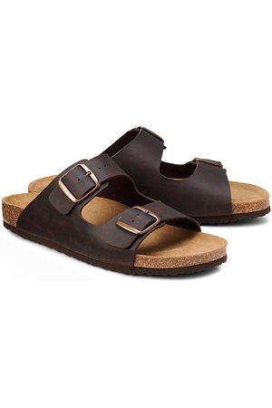 Cox Herren Sandalen - Komfort-Pantolette in dunkelbraun, Sandalen für Herren