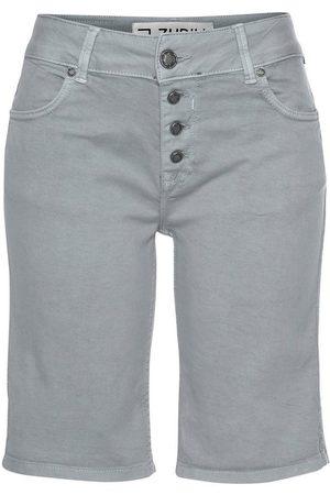 Zhrill Damen Bermuda Shorts - Bermudas »JESSY« in Vintage-Optik mit sichtbarer Knopfleiste