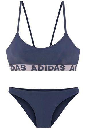 adidas Bustier-Bikini mit Markenschriftzügen