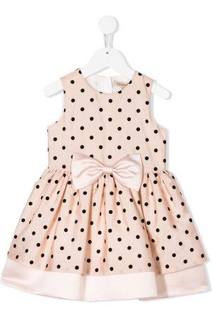 HUCKLEBONES LONDON Gepunktetes Kleid in A-Linie