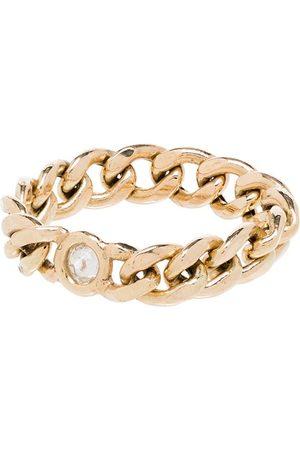 Zoe Chicco 14kt Gelbgoldring mit einem Diamanten