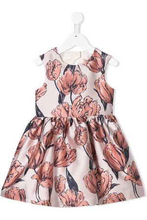 HUCKLEBONES LONDON Mädchen Bedruckte Kleider - Kleid mit Blumen-Print