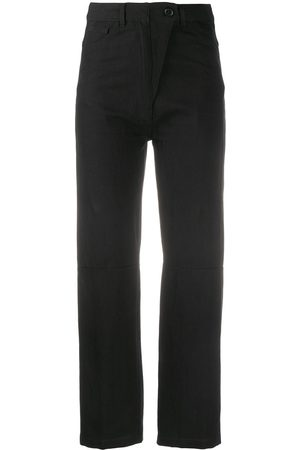 ANN DEMEULEMEESTER Cropped-Hose mit hohem Bund