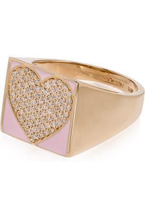 ALISON LOU Damen Ringe - 14kt Siegelring mit Herz
