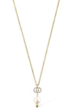 Gucci Lange Halskette Mit Perlenimitat
