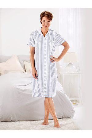 Avena Damen Bedruckte Kleider - Damen Nachtkleid gestreift