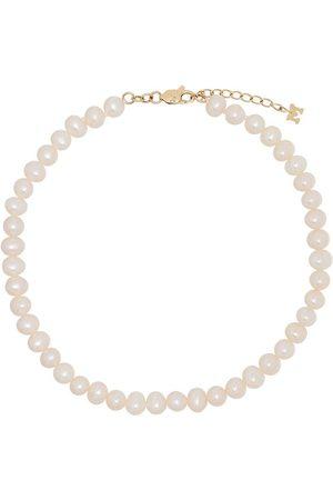 Mateo 9kt Gelbgoldfußkette mit Perlen