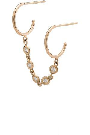 Zoe Chicco Doppelte 14kt Goldcreole mit Diamanten