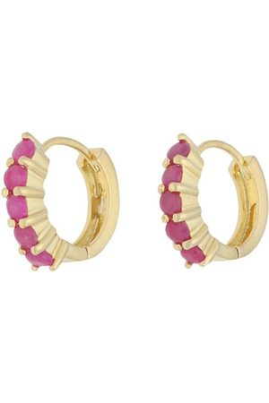 vivance collection Paar Creolen »stylish rubies«