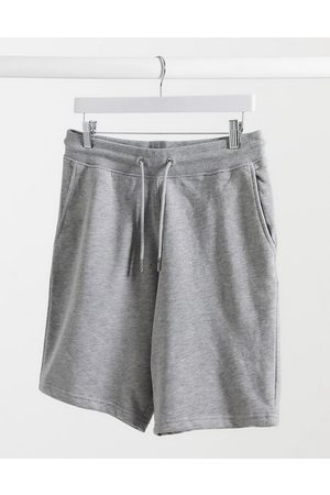 New Look Herren Shorts - – Graue Jersey-Shorts