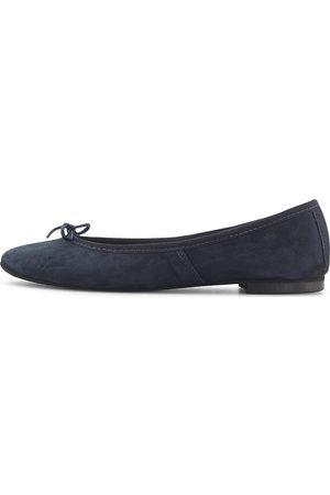 NOM' DE CODE Damen Ballerinas - Klassik-Ballerina in dunkelblau, Ballerinas für Damen