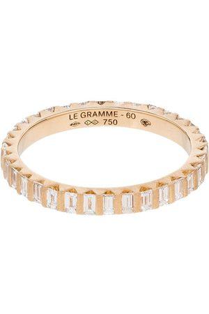 Le Gramme 18kt Goldring mit Diamanten in einer Balkenfassung