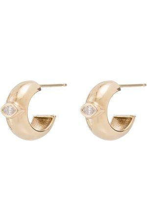 Zoe Chicco 14kt Goldcreolen mit einem Diamanten