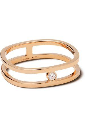 Vanrycke 18kt Rotgoldring mit Diamanten