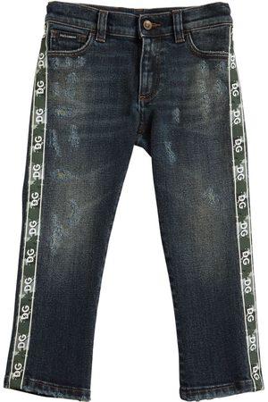 Dolce & Gabbana Jeans Aus Stretch- Mit Logostreifen