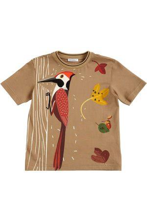 Dolce & Gabbana T-shirt Aus Baumwolljersey Mit Druck