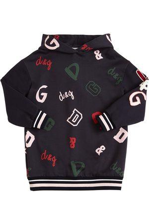 Dolce & Gabbana Kleid Aus Fleece Mit Logo Und Patches