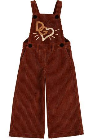 Dolce & Gabbana Overall Aus Kord Mit Stickerei