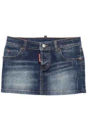 Dsquared2 Rock Aus Stretch-baumwolldenim