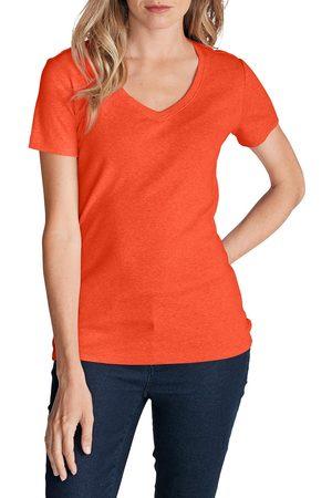 Eddie Bauer Damen T-Shirts - Favorite Shirt - Kurzarm mit V-Ausschnitt Damen Gr. XS