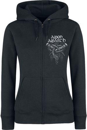 Amon Amarth Damen Sweatjacken - Carved Skull Kapuzenjacke