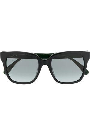 Gucci Eyewear Eckige Sonnenbrille mit Webstreifen