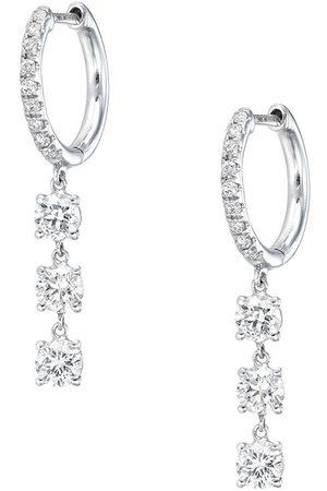 Anita 18kt Weißgoldohrringe mit Diamanten
