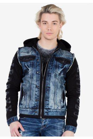 Cipo & Baxx Sweatjacke im coolen Jeans-Look