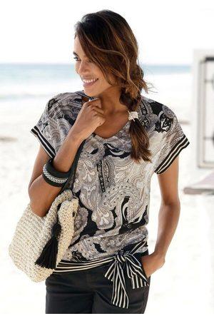 Lascana Kurzarmshirt mit Paisleyprint