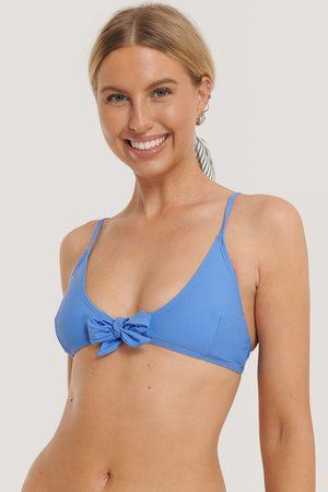 NA-KD Tied Front Bikini Top - Blue