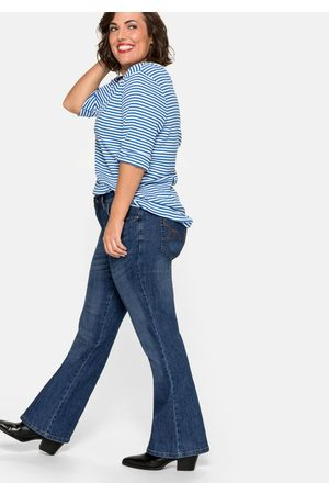 Sheego Bootcut-Stretch-Jeans MAILA, blue Denim, Gr.44