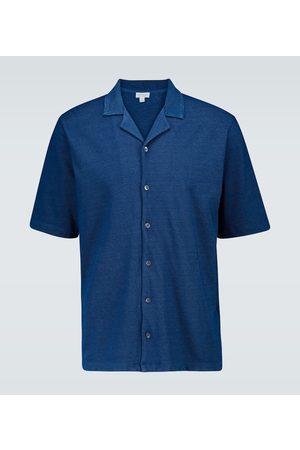 Sunspel Kurzarmhemd aus Baumwollpiqué